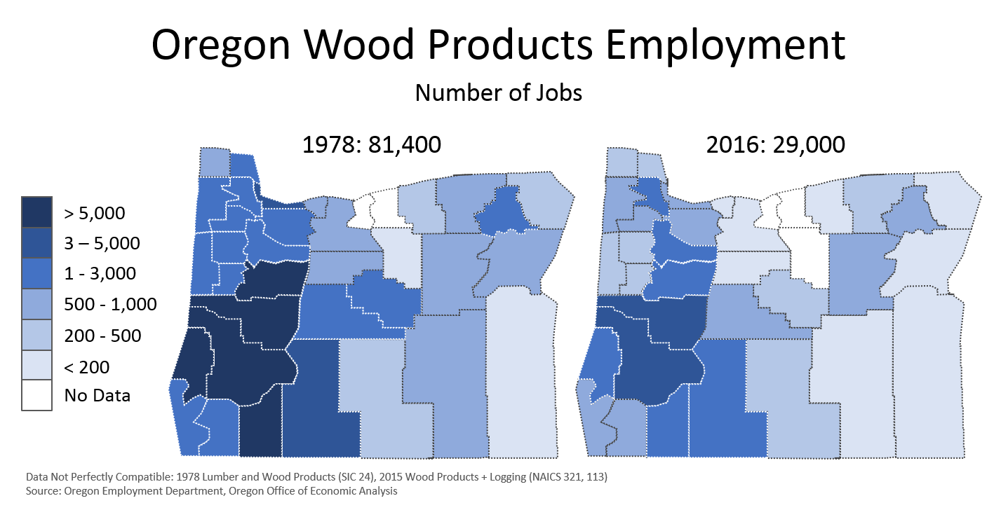Historical Look At Oregons Wood Product Industry Oregon Office - Us lumber industry map 1900