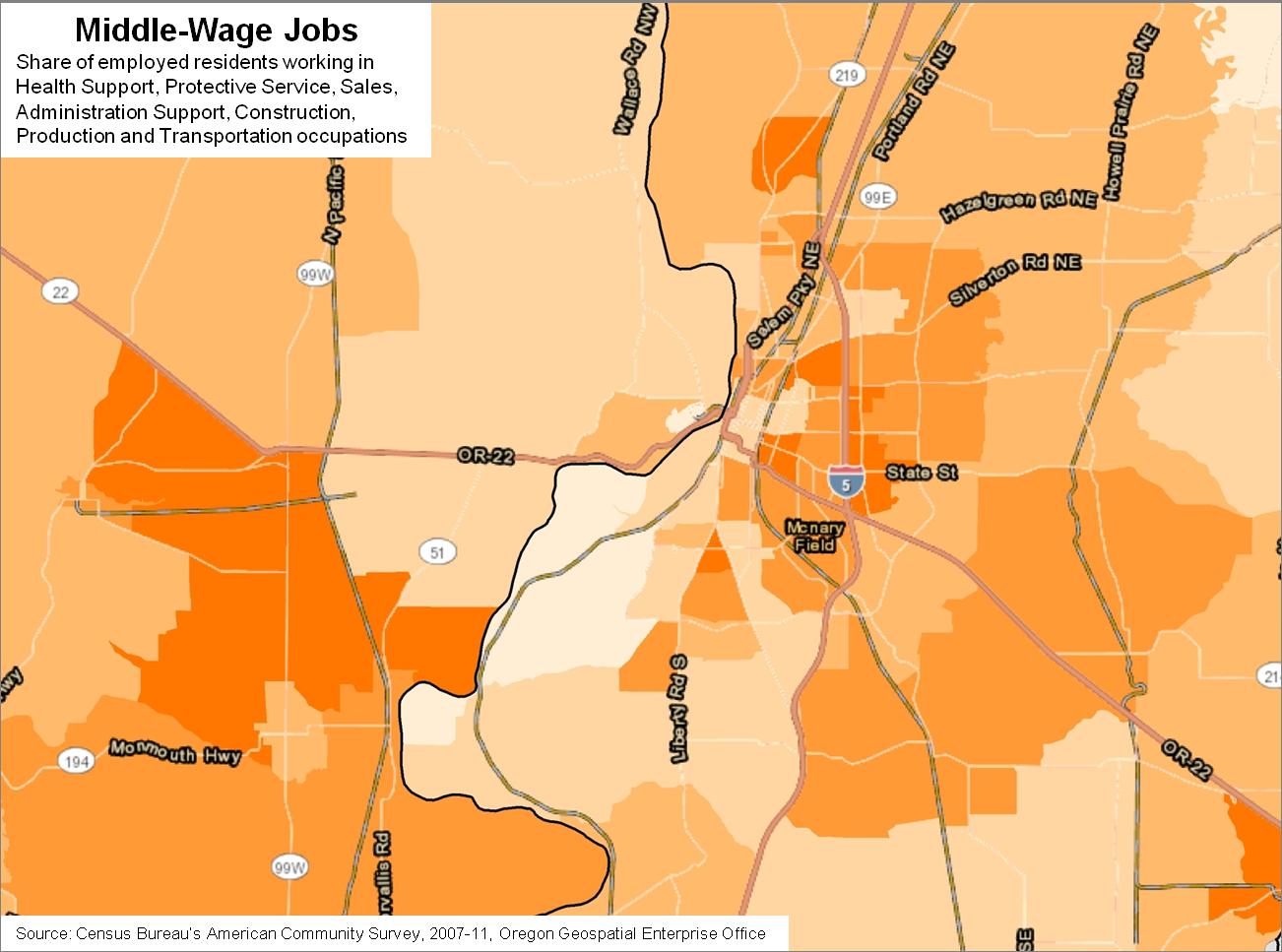 Salem Polarization Maps | Oregon Office of Economic Analysis