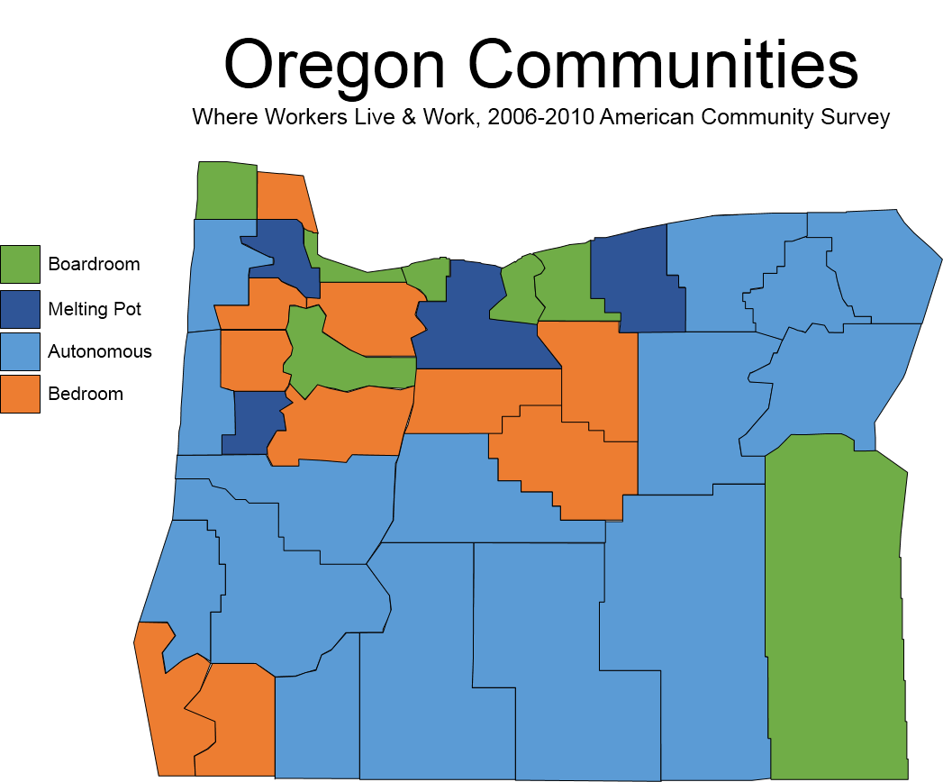 Map Of The Week Commuting Worker Flows And Oregon Communities | Oregon Office Of Economic Analysis